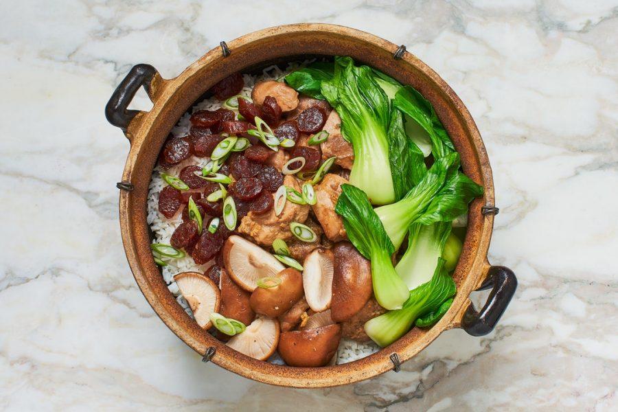 Bo Zai Fan (riz chinois au poulet et aux champignons en argile)