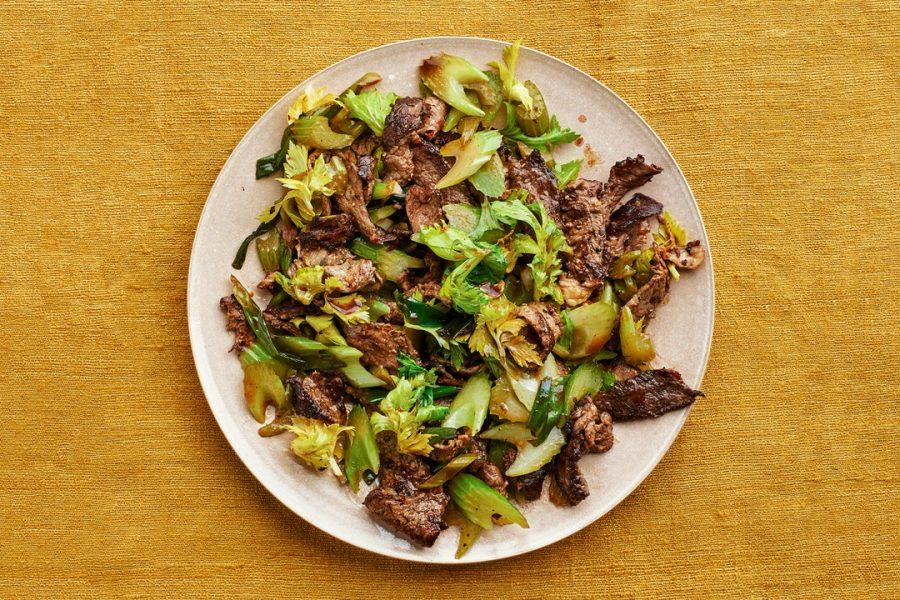 Sauté de bœuf au poivre noir et céleri