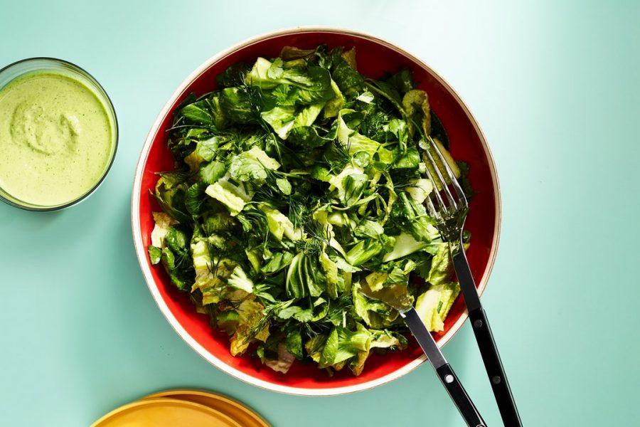 Crunchy Greens Avec Fat Choy Ranch