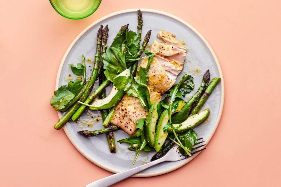 Salade printanière All A's avec Mahi-Mahi