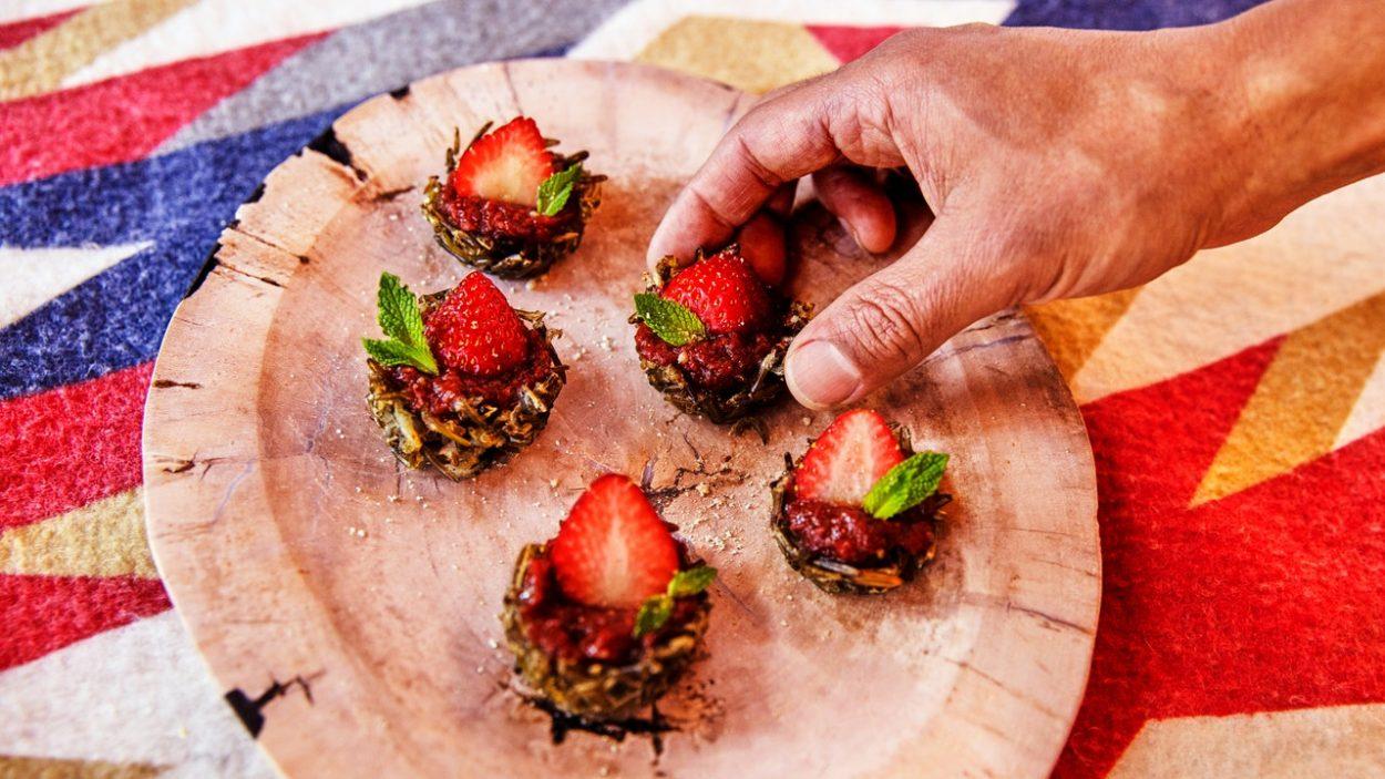 Tartelettes aux fraises et riz sauvage