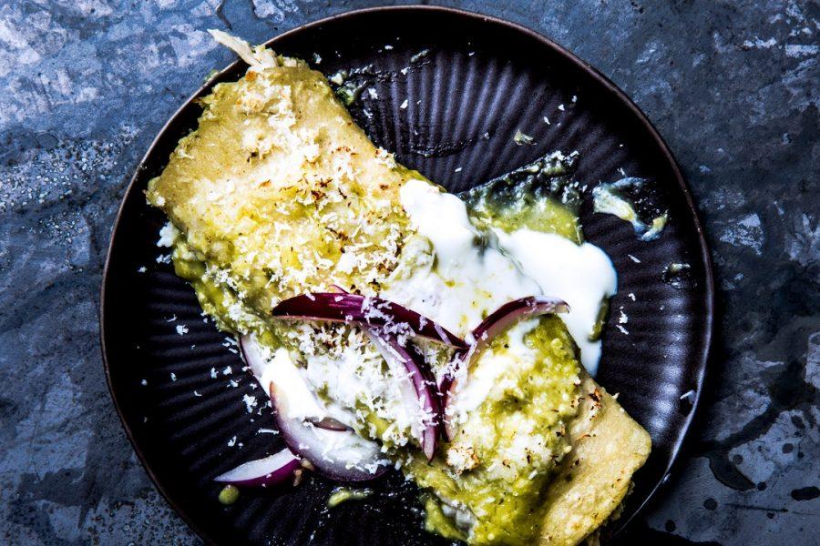 Enchiladas Verdes au poulet