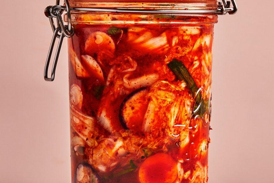 Kimchi de nettoyage du réfrigérateur