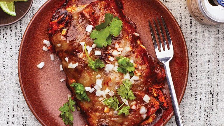 Enchiladas aux taupes de poulet