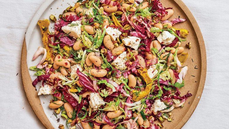 Salade de radicchio, haricots et feta